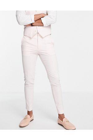 ASOS DESIGN Mænd Habitbukser - Pastellyserøde super skinny-habitbukser
