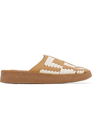 Malibu Sandals Tan & Off-White Vegan Leather & Hemp Thunderbird Sandals