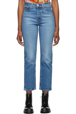 Levi's Blue Denim Wedgie Straight Jeans