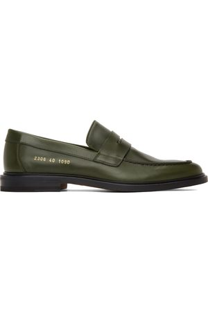COMMON PROJECTS Mænd Flade sko - Green Leather Loafers