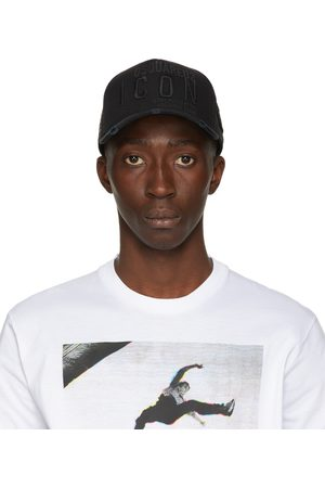 Dsquared2 Mænd Kasketter - Black Embroidered Baseball Cap