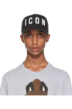 Dsquared2 Black & White 'Icon' Baseball Cap