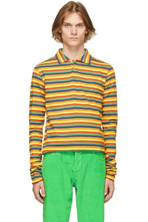 ERL Mulitcolor Stripe Long Sleeve Polo
