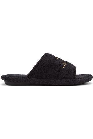 Balenciaga Black Terrycloth Resorts Home Slide Sandals