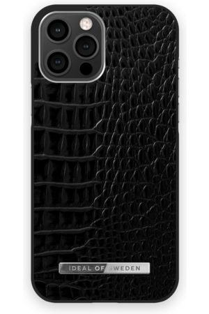 Ideal of sweden Atelier Case New iPhone 12 Pro Max Neo Noir Croco Silver