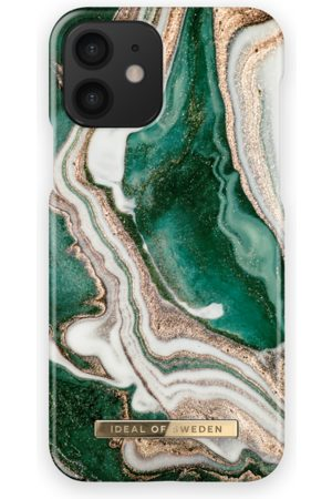 Ideal of sweden Fashion Case iPhone 12 Golden Jade Marble