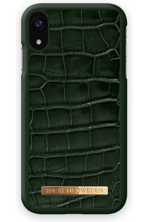 Ideal of sweden Croco Case iPhone XR Evergree