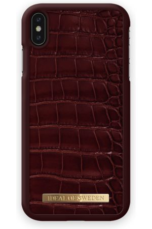 Ideal of sweden Mobil Covers - Croco Case iPhone XS Max Claret