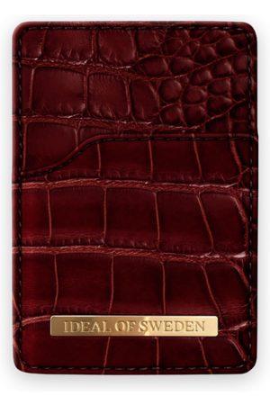 Ideal of sweden Magnetic Card Holder Claret Croco