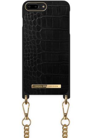 Ideal of sweden Kvinder Mobil Covers - Necklace Case iPhone 8P Jet Black Croco