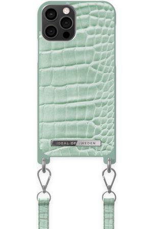 Ideal of sweden Kvinder Mobil Covers - Atelier Necklace Case iPhone 12/12 Pro Mint Croco