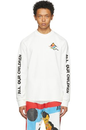 Bethany Williams White The Magpie Project Edition AOC Long Sleeve T-Shirt
