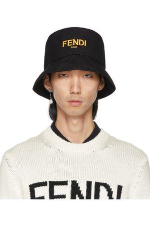 Fendi Mænd Hatte - Reversible Black 'Forever ' Fisherman Hat