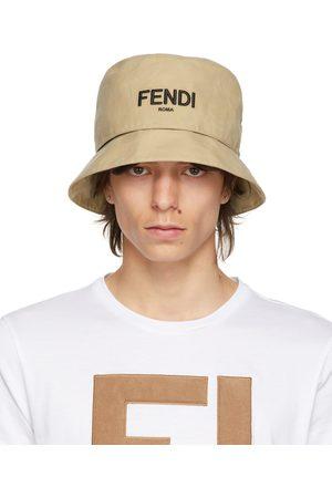 Fendi Reversible Beige 'FF' Bucket Hat
