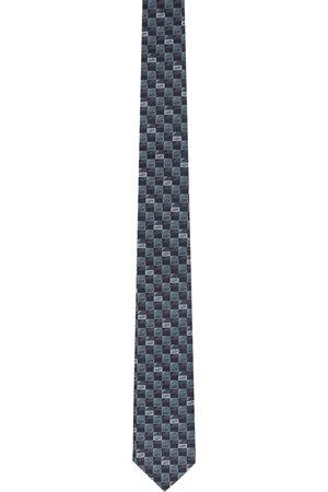 Fendi Mænd Slips - Blue & Grey Silk 'Forever ' Tie