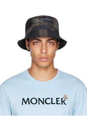 Moncler Genius 7 Moncler FRGMT Hiroshi Fujiwara Reversible Brown & Blue Check Bucket Hat