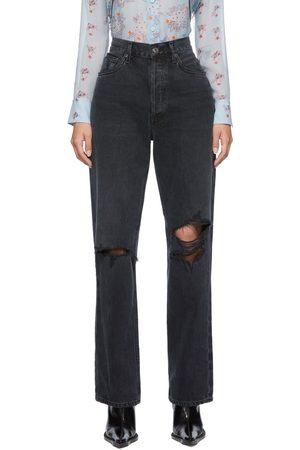 AGOLDE Kvinder Straight - Black Lana Mid-Rise Vintage Straight Jeans