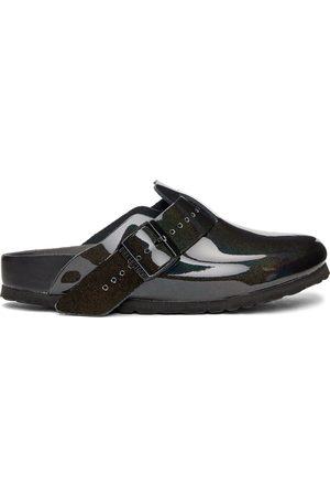 Rick Owens Mænd Sandaler - Black Birkenstock Edition Patent Iridescent Boston Sandals