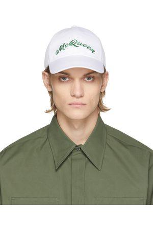 Alexander McQueen Mænd Kasketter - White & Green Logo Cap