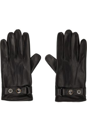 Alexander McQueen Black & Gold Leather New Biker Gloves
