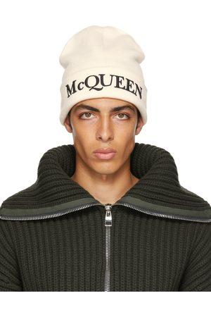 Alexander McQueen Mænd Huer - Off-White Logo Beanie