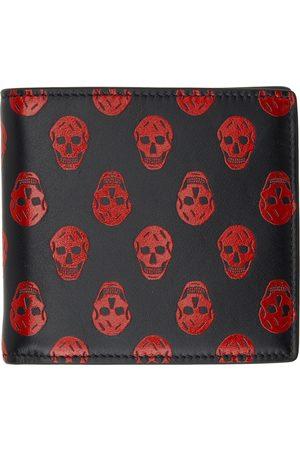 Alexander McQueen Red & Black Biker Skull Wallet