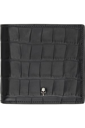 Alexander McQueen Mænd Punge - SSENSE Exclusive Black Croc Skull Bifold Wallet