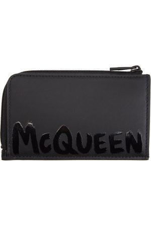 Alexander McQueen Black Zip Card Holder