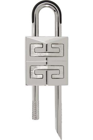 Givenchy Mænd Nøgleringe - Silver Small 4G Padlock Keychain