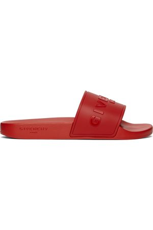 Givenchy Red 'Paris' Flat Sandals