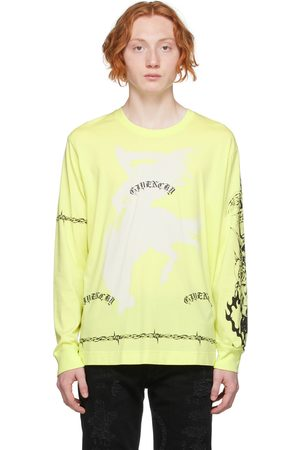 Givenchy Yellow Graphic Long Sleeve T-Shirt