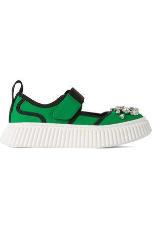 Marni Smykker - Kids Green Jewel Sneakers