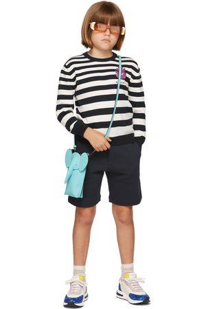 Marni Trøjer - Kids Navy & White Striped Sweater