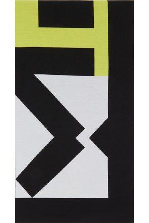 Kenzo Mænd Sportsudstyr - Grey & Green Wool Sport Scarf