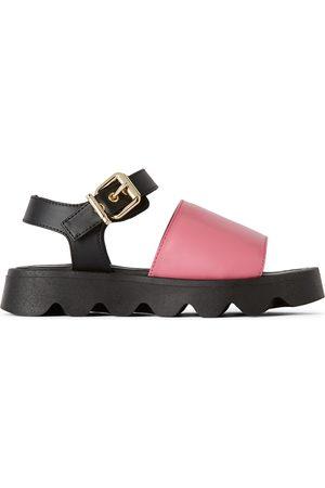 Marni Sandaler - Kids Pink Leather Strap Sandals