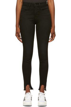 Frame Black 'Le High Skinny' Jeans