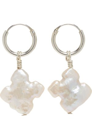 Santangelo Kvinder Øreringe - SSENSE Exclusive White 'The Saint Earring' Earrings