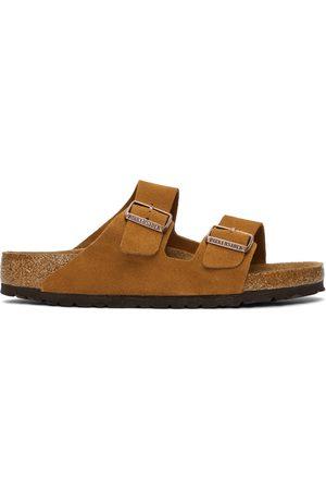 Birkenstock Mænd Sandaler - Tan Suede Soft Footbed Arizona Sandals