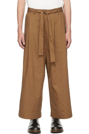 Naked & Famous Denim SSENSE Exclusive Brown Wide Trousers