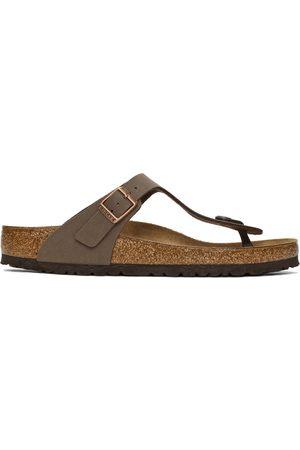 Birkenstock Brown Birko-Flor Gizeh Sandals