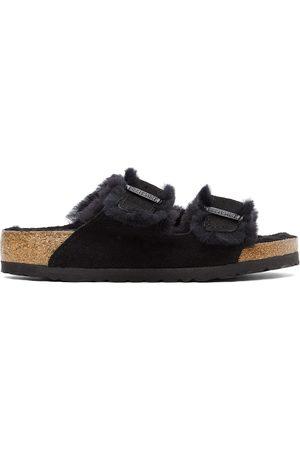 Birkenstock Shearling & Suede Arizona Fur Sandals