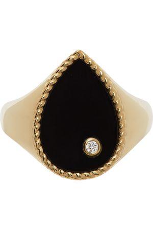 YVONNE LÉON Kvinder Ringe - Gold Onyx Pear Signet Ring