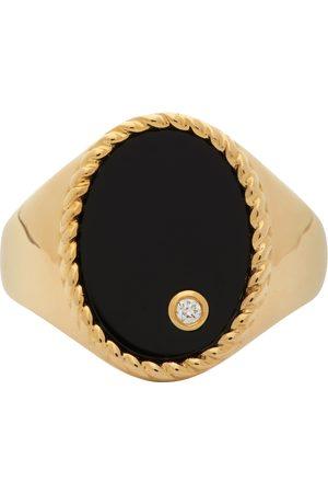 YVONNE LÉON Kvinder Ringe - Gold & Black Oval Signet Ring