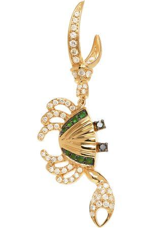 YVONNE LÉON Kvinder Øreringe - Gold Diamond Crab Single Earring