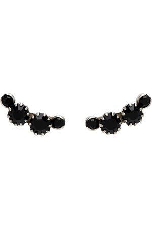 Isabel Marant Kvinder Øreringe - Silver & Black A Wild Shore Stud Earrings