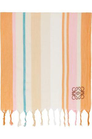 Loewe Off-White & Orange Stripes Blanket Scarf