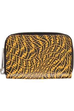 Fendi Mænd Punge - Yellow & Black FF Vertigo Zip-Around Wallet