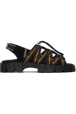 Fendi Black & Yellow ' Force' Sandals