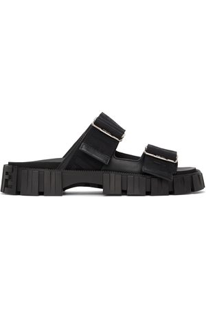 Fendi Black ' Force' Lug Sole Sandals