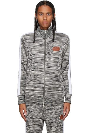 Palm Angels Black & White Missoni Edition Knitted Track Jacket
